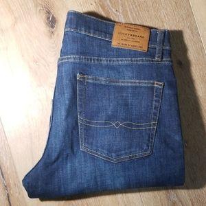 Mens Lucky Brand 363 Straight leg 33/30 dark blue